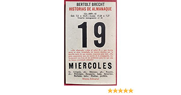 Historia de almanaque: Amazon.es: Bertolt Brecht: Libros