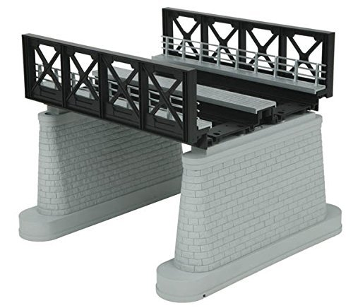 O 2-Track Girder Bridge, Black by MTH TRAINS; MIKES TRAIN HOUSE