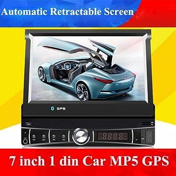 Universal 1 DIN 7 pulgadas coche reproductor mp5 con GPS, Radio de audio estéreo,