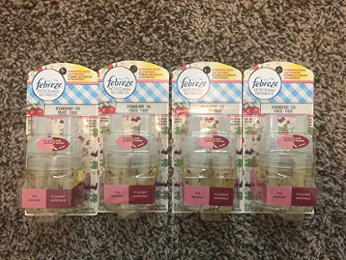 (Febreze Noticeables Dual Scented Refills, Strawberry and Fig, 2 Pack, 4 Total Refills)