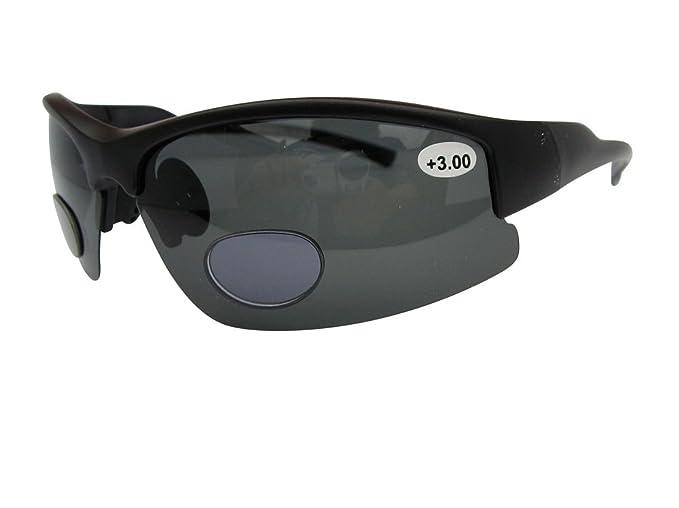 Lotus – Gafas de sol bifocales polarizadas Deportes Wrap Around Gafas de Lectura 100% UV