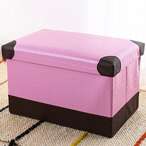 HOMEE Rectangular storage stool storage stool can sit adult sofa stool home folding toy storage box change shoe stool (color, Size optional),40cm,C by HOMEE