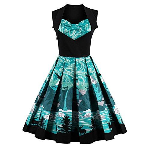 Vintage Dress estampados florales cortos de lujo una línea verde Patchwork vestido de fiesta Vestido Vintage vestidos Grenn