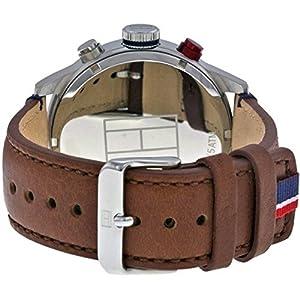 Reloj analógico de cuarzo para hombre Tommy Hilfiger Trent 1791066, correa de piel marrón. 3