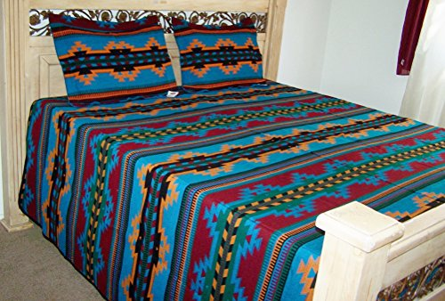turquoise-southwestern-bedspread-and-shams-set-queen-full-size-coverlet-reversible-7023d
