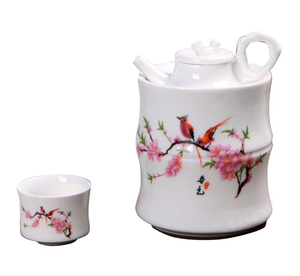 DRAGON SONIC Warm Wine Pot Set, Ceramic Sake Set, Wine Separator, E02