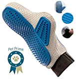 Pet Prime Dog & Cat Grooming Glove Brush – Deshedding & Massaging Tool For Long & Short Hair Pets