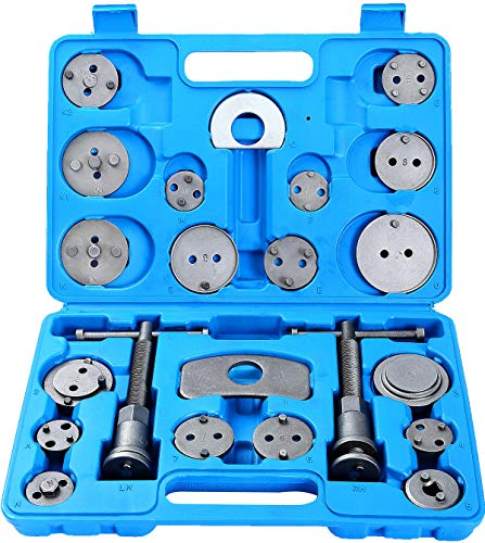 (DASBET 22pcs Heavy Duty Disc Brake Caliper Tool Set and Wind Back Kit for Brake Pad Replacement)