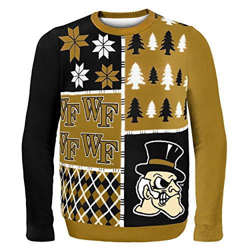 Klew NCAA Busy Block Sweater, Large, Wake Forest Demon Deacons