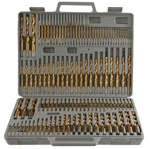 (1) 115 Pieces Titanium Drill Bit Set with Index Case Number Letter Fractional
