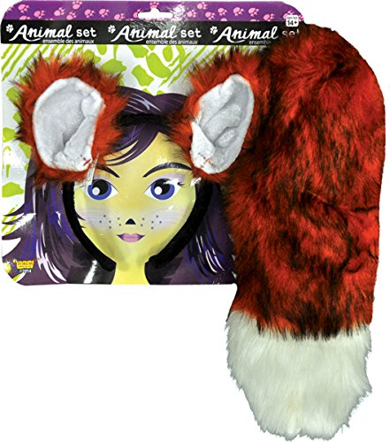 Red Fox Ears And Tail Costume (Morris Costumes Women's FOX EARS AND TAIL SET)