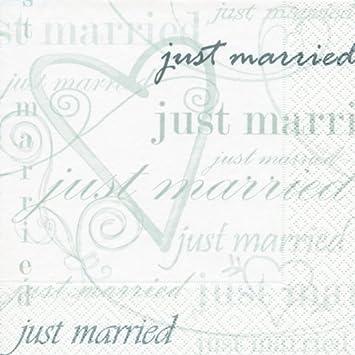 20 Servietten Wedding Time Zeit Zu Heiraten Hochzeit Just Married 33x33cm
