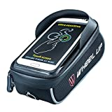 Xplanet Bike Frame Bag, Cycling Top Tube Phone Bag Front Handlebar Bag with Waterproof Touch Screen Phone Case Holder for iPhone X 8 7 6s 6 plus/Samsung Galaxy s7 s6 note 7 Below 6.0 Inch+Sun Visor