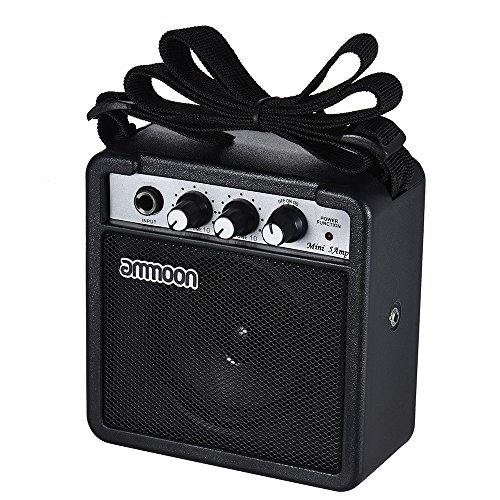 ier Speaker Mini 5 Watt 9V Battery Powered Amp for Acoustic/ Electric Guitar Ukulele High-Sensitivity with Volume Tone Control ()
