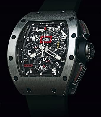 Amazon.com: Richard Mille Felipe Massa Flyback Chronograph White Gold Watch #RM11: Watches