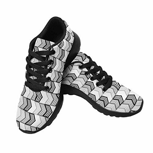 Scarpa Da Jogging Leggera Da Donna Running Jogging Leggera Easy Walk Casual Comfort Running Scarpe Da Corsa Monocromatiche Modello Multi Frecce 1