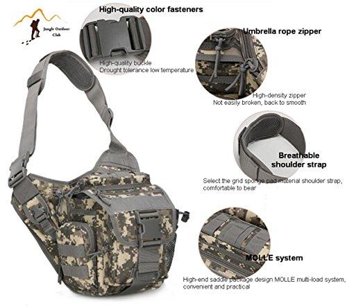 Jungle 20l laptop molle sella pacchetto borsa a tracolla tattico tasche Wild borsa zaino Zaino per trekking, campeggio, arrampicata turismo ciclismo tattico, Jungle camouflage