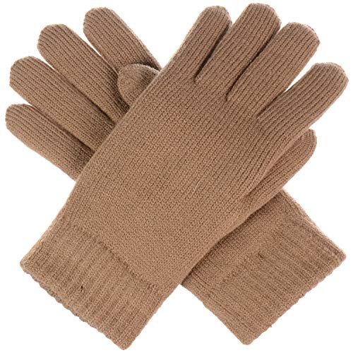 BYOS Winter Women's Toasty Warm Plush Fleece Lined Knit Gloves in Solid & Glitter - Ladies Fleece Winter Glove