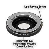 Fotodiox Pro Lens Mount Adapter - Minolta Rokkor (SR/MD / MC) SLR Lens to Sony Alpha A-Mount (and Minolta AF) Mount SLR Camera Body