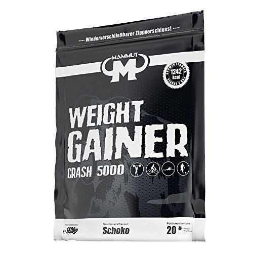 Mammut Weight Gainer Crash 5000 Schoko, 1er Pack (1 x 1.4 kg)