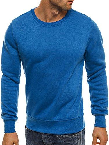 Maglione Maniche Bz 01b Ozonee ozonee Maglia Uomo A 01b Caldo Lunghe Pullover Blu Base Felpa xIw1qAwY
