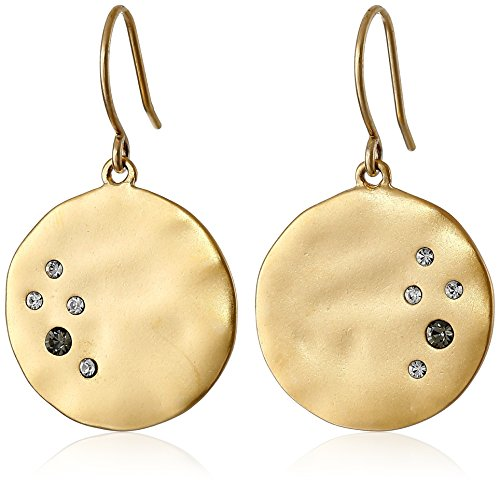 Kenneth Cole New York Gold-Tone Crystal-Detail Disc
