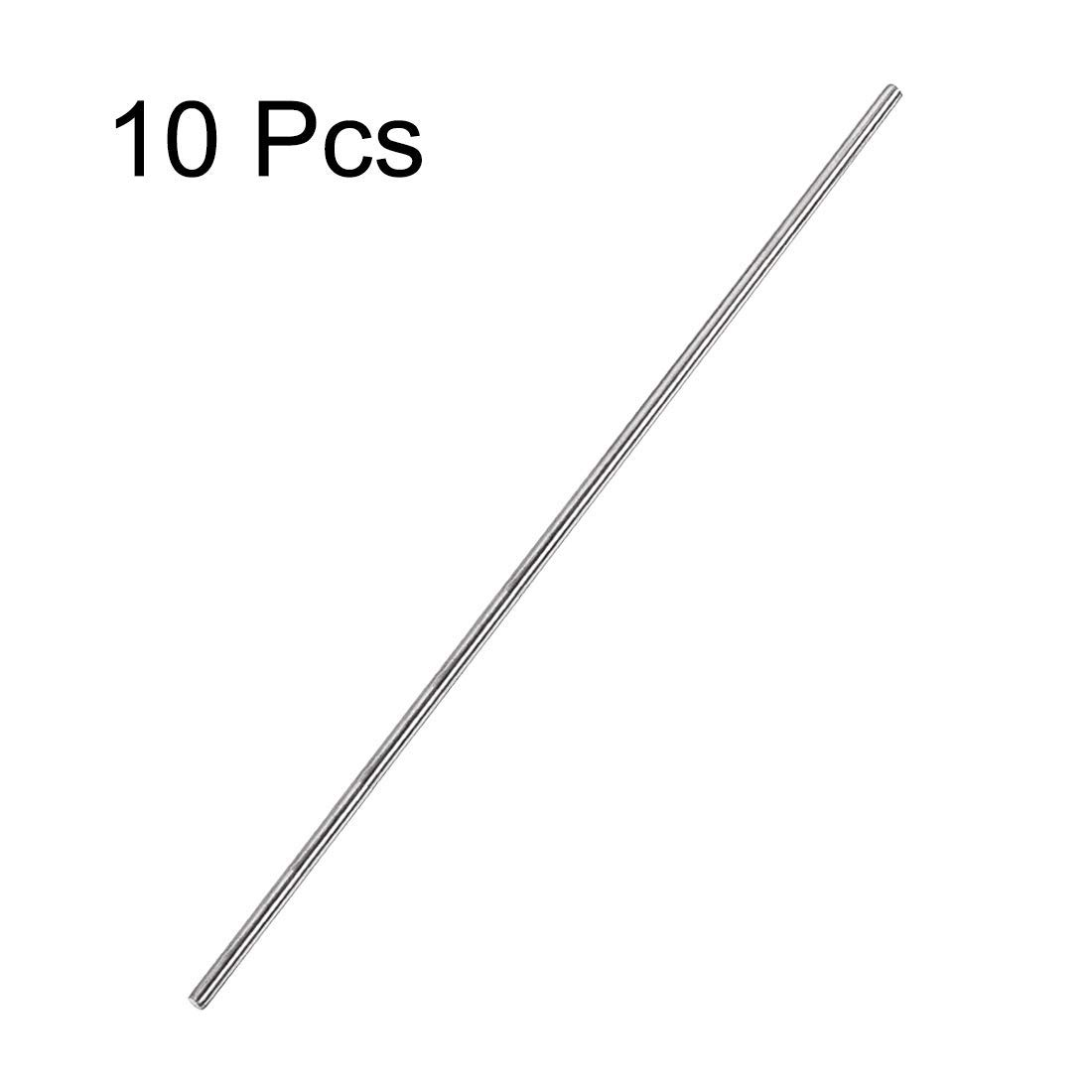 Round Stainless Steel 304 3mm x 300mm Round Rod for DIY Crafts 10 Pieces