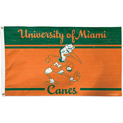 University of Miami Throwback Vintage 3x5 College Flag