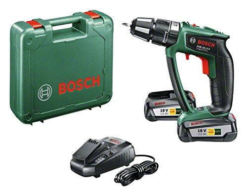 2 opinioni per Bosch PSB 18 LI-2 Ergonomic Trapano Avvitatore-Battente con 2 Batterie al Litio