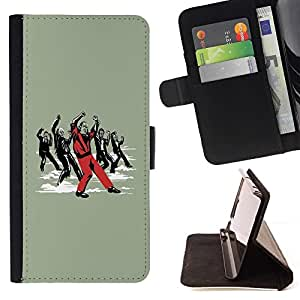 BETTY - FOR Samsung Galaxy S5 V SM-G900 - cool funny dance Michael zombie - Style PU Leather Case Wallet Flip Stand Flap Closure Cover