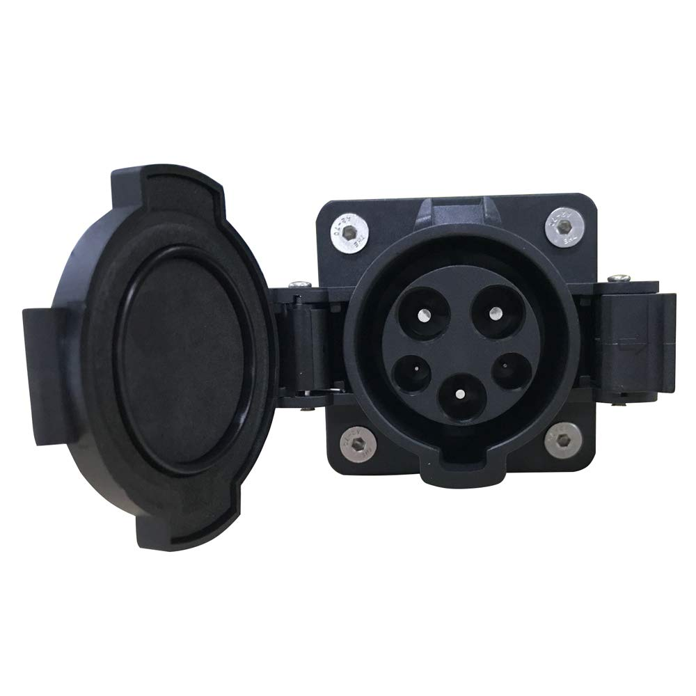 KHONS J1772 32a Receptacle Type 1 Vehicle Side Inlet EVSE Connector (32 Amp, 110V-240V) 4 Point Fixing North American Standard UL Rated by K.H.O.N.S. (Image #1)