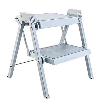 ZHAOYONGLI-Taburete Plegable Escaleras de Mano sillas ...