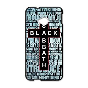 Printed Cover Protector HTC One M7 Cell Phone Case Hwbyd Black Sabbath Unique Design Cases
