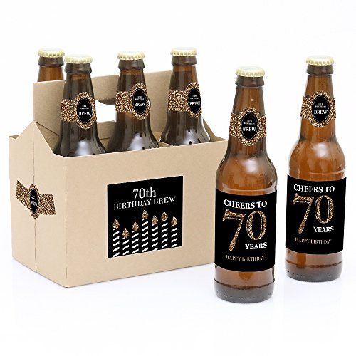 Adult 70th Birthday Bottle Carrier
