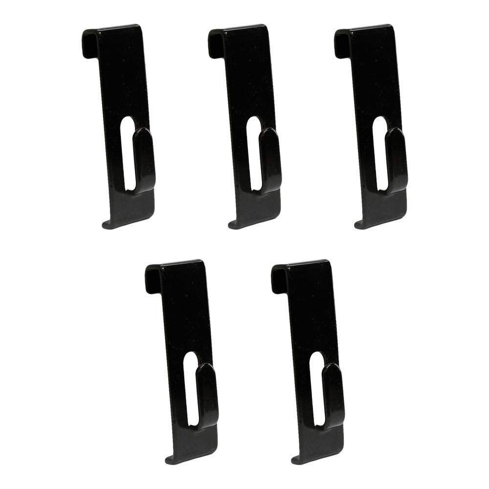 Picture Notch MH GLOBAL Set of 5 Pieces Black Gridwall Utility Hook for Grid Panel Display