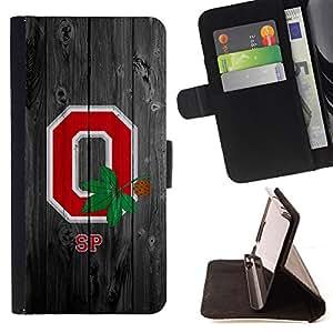 BullDog Case - FOR/Samsung Galaxy S3 Mini I8190Samsung Galaxy S3 Mini I8190 / - / Ohio State Football /- Monedero de cuero de la PU Llevar cubierta de la caja con el ID Credit Card Slots Flip funda de cuer