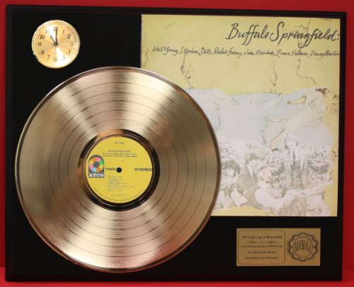 Buffalo Springfield LTD Edition 24Kt Gold LP Record & Clock Display Quality Collectible from Gold Record Outlet