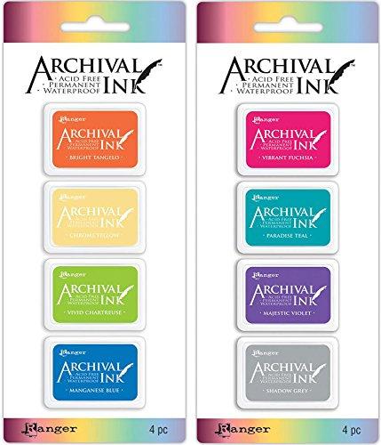 Ranger Mini Archival Ink Pad Kits #3 & #4 - 2 item Bundle ()
