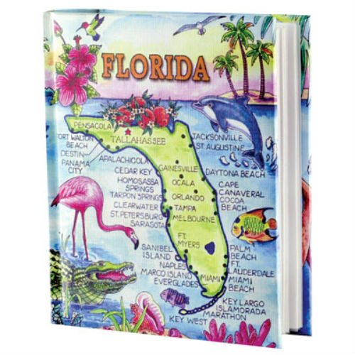 Florida Map Photo Album w/Color 100 Photos / 4x6