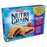 Kellogg's Nutri-Grain Soft Baked Mixed Berry Breakfast Bars - School Lunchbox Snacks, Individual Wrapped Bars (48 Count)