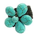 Adjustable Stone Flower Ring, Handmade Fair Trade