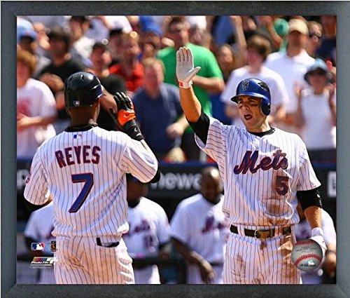 "David Wright & Jose Reyes New York Mets MLB Celebration Photo (Size: 12"" x 15"") Framed"