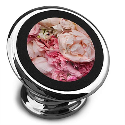 Magnetic Car Phone Mount Holder Peony Flower Stands Mobile Bracket 360 Degree Rotation from Dashboard