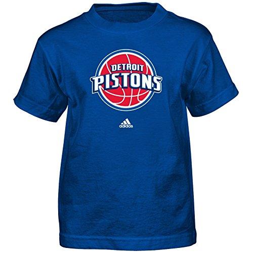Outerstuff NBA Detroit Pistons Boys Full Primary Logo Short Sleeve Tee, Small (4), (Adidas Detroit Pistons T-shirt)