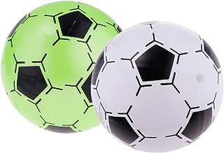 B Blesiya 8.5 Pollice Pallone Gonfiabile Piccolo Sforzo di Pressione 2pcs Giocattolo - Bianco+Verde