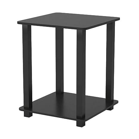 Amazon.com: TSR Mesa de madera de 2 niveles, mesa superior ...