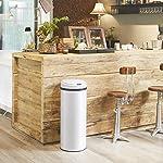 Deuba-Cubo-de-Basura-automatico-con-Sensor-Capacidad-de-56L-de-Acero-Inoxidable-Color-Blanco-Pantalla-LED-Reciclaje-Cocina
