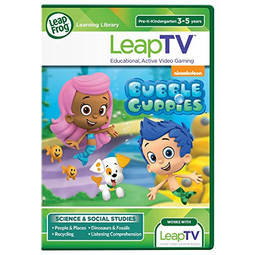 LeapFrog LeapTV Nickelodeon Bubble Guppies Educational, Active Video Game (Active Video)