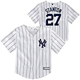 Outerstuff Giancarlo Stanton New York Yankees #27 Infants Toddler Cool Base Home Replica Jersey