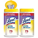 Lysol - Disinfecting Wipes - Dual Action - 2x75ct - Scrubbing Texture - Disinfectant - Cleaning - Sanitizing